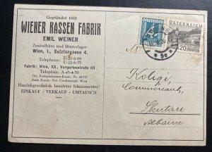 1930 Vienna Austria Commercial Postcard cover To Skutari Albania
