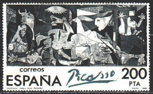 Spain. 1981. 2520. Picasso, painting by Guernica. USED.