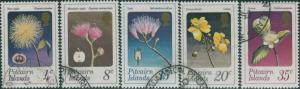 Pitcairn Islands 1973 SG126-130 Flowers set FU