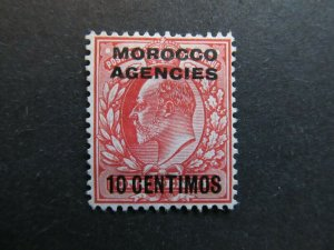A4P9F3 Great Britain Offices in Morocco 1907-10 10c on 1p mint no gum