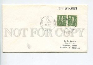 292315 NORWAY 1973 year COVER Bjornoya bird