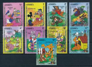 [22198] Dominica 1984 Mickey Mouse Donald Duck Pluto Rabbits Easter MNH