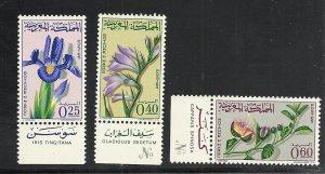 Morocco #115-7 comp mnh cv $3.35 Flowers