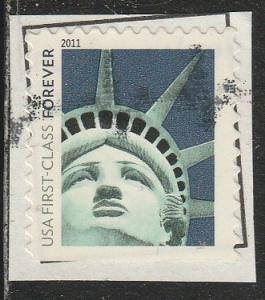 4561 - Statue of Liberty used f-vf. on piece.