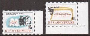 Albania    #2293-2294   MNH   1988  Monastir congress  scroll . book
