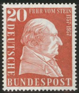 Germany Scott 776 MH* 1957 von Stein stamp