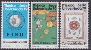 MEXICO Scott 1178-1180 MNH** 1979 set