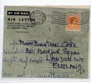 CS302 Bahamas Nassau 1952 Airmail Cover {samwells-covers}
