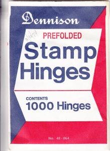 Dennison Prefolded Stamp Hinges, Unopened (S18583)