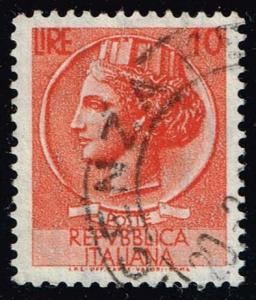 Italy #676 Italia from Syracusean Coin; Used (0.25)