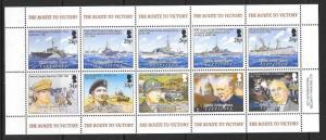 BRITISH INDIAN OCEAN TERR SG326a 2005 60th ANNIV OF END OF SECOND WORLD WAR MNH