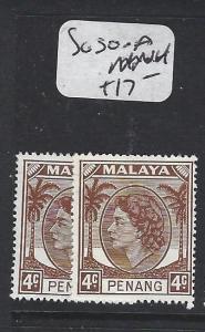 MALAYA  PENANG   (PP1605B)  QEII  SG 30-30A   MNH