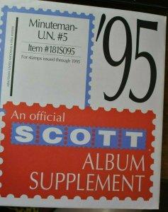 SCOTT U.N. #5 Minuteman 1995 supplement,  new unused.