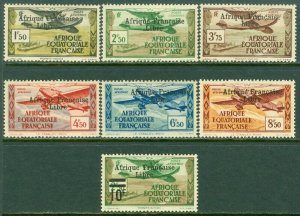 EDW1949SELL : FRENCH EQUATORIAL AFRICA 1940-41 Scott #C9-14, 16 VF MOG Cat $591.