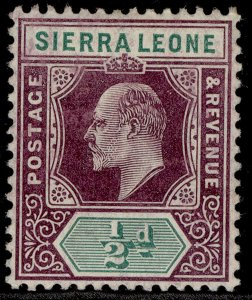 SIERRA LEONE EDVII SG86, ½d dull purple & green, LH MINT.