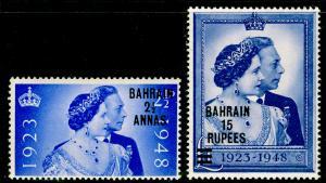 BAHRAIN SG61-62, COMPLETE SET, NH MINT. Cat £33. RSW.