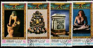 Sharjah Used lot of 4 Egyptian Art