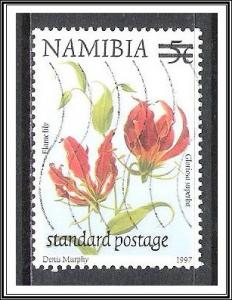 Namibia #959 Flame Lily Surcharged Used
