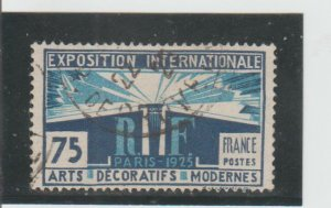 France  Scott#  225  Used  (1925 Light and Liberty Allegory)