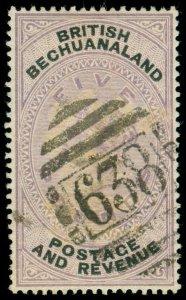 MOMEN: BECHUANALAND SG #21 1888 USED **CERT** LOT #60128