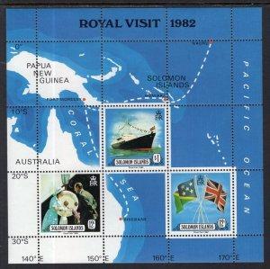 Solomon Islands MNH S/S 480A Royal Visit 1982