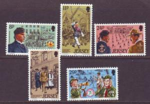 Jersey Sc 295-9 1982 Scouting Year stamps mint NH