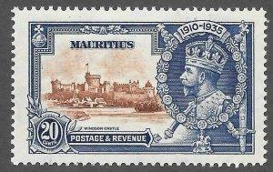 Mauritius (1935) - Scott # 206,    MH