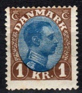 Denmark #128  F-VF Unused  CV $75.00 (S10751)