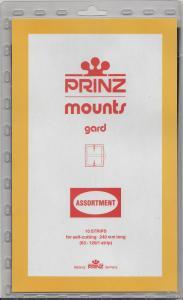 PRINZ CLEAR MOUNTS 240AS 63-120 (1 STRIP EACH) (10) RETAIL PRICE $25.00
