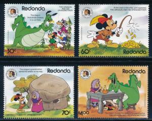 Disney Redonda - Dragon Set MNH Grimm Brothers (1984)