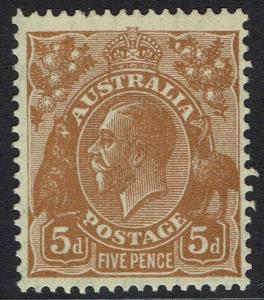 AUSTRALIA 1931 KGV 5D MNH ** WMK C OF A