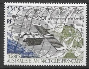 FRENCH SOUTHERN & ANTARCTIC TERRITORIES SG219 SURVEILLANCE SATELLITE MNH