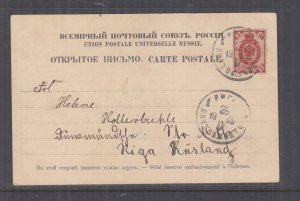 ESTONIA, 1911 ppc. Church, REVAL to Riga, Latvia.
