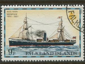 Falkland Is.- Scott 268 - Ships Issue - 1978 - VFU - Single 9p Stamp