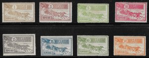 1903 Romania 158-65 mail coach complete set of 8 MH