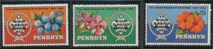 Penrhyn Islands 219-221 MNH (1983)