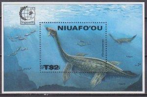 1995 Niuafo'ou 291/B16 Dinosaurs ( SPECIMEN) 20,00 €