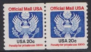 O135 Official MNH PNC #1 coil pair