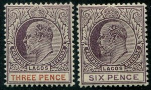 HERRICKSTAMP LAGOS Sc.# 44-45 Mint LH Scott Retail $45.00