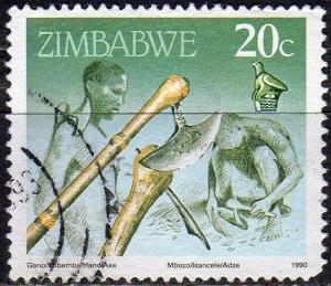 Zimbabwe 621 - Used - Hand Axe (1990) (2)