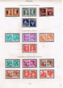 Switzerland Stamp tête-bêche head-to-tail STAMPS COLLECTION LOT  #1