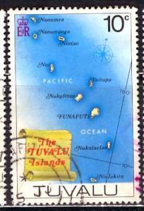 Tuvalu; 1977: Sc. # 64: O/Used Single Stamp