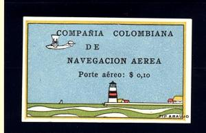 Chorlavi Stamps:  Columbia C6  10c Multicolor Lighthouse