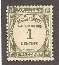 French Andorra J16 Mint VF HR
