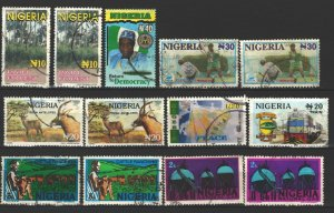 COLLECTION LOT # 3512 NIGERIA 13 STAMPS 1973+ CLEARANCE CV+$23