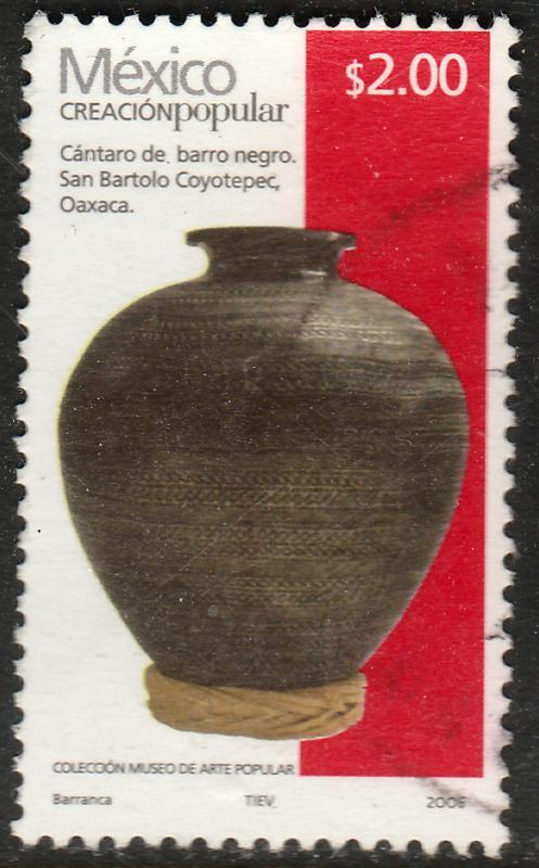 MEXICO 2491c, $2.00P HANDCRAFTS 2007 ISSUE. USED. F-VF.(1521)