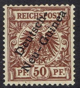 GERMAN NEW GUINEA 1897 EAGLE OVERPRINTED 50PF