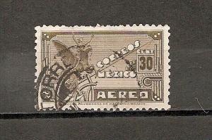 MEXICO STAMP VFU CORREOS AEREO 30 CENT  # ME-2
