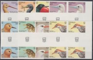 Tuvalu stamp Birds blocks of 4 Imperforated MNH 1988 Mi 489-504 WS137175
