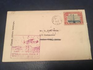 ICOLLECTZONE FAM 8 Brownsville Texas to Mexico 3/10/29 Flight Cover (A400)